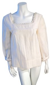 Chloé Linen Top White