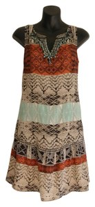Twelfth St. by Cynthia Vincent Shift A Line Flare Ethnic Print Dress