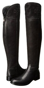 Tory Burch Over-the-knee Leather Simone Black Boots