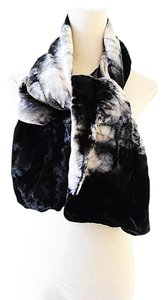 Emporio Armani silk velvet double sided scarf