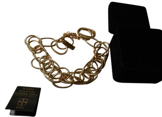 Other IMAN GLOBAL CHIC LARGE GOLDTONE CHAIN NECKLACE