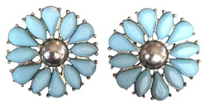 BaubleBar BLUE FLOWER EARRINGS STATEMENT