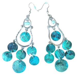 Nordstrom Chandelier Earrings Sterling Silver and Turquoise