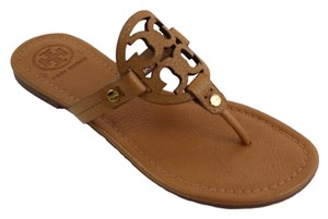 5c4e526b0dff11 Tory Burch Royal Tan Miller Tumbled Leather Sandals Size US 7 ...