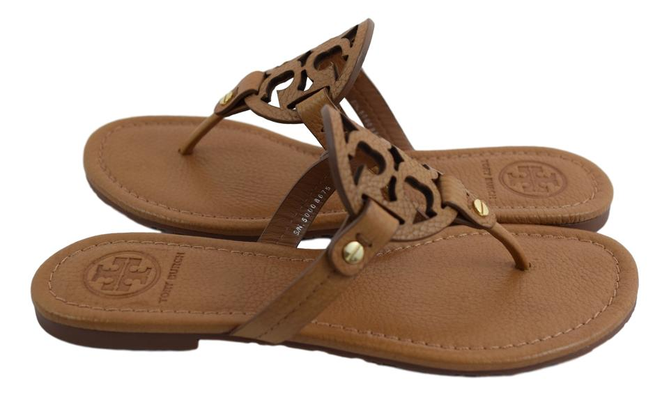 812495f97 Tory Burch Royal Tan Miller Tumbled Leather Sandals Size US 7 Regular (M