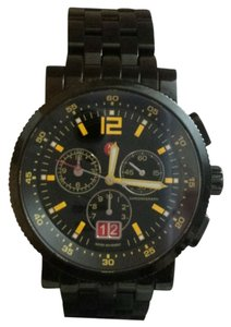 Michele Michele 42mm Black Sport Sail Watch with Bright Yellow Markers MW01K00E094