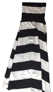 Black white Maxi Dress by Ark & Co. Maxi Sleeveless Stripes