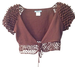 Marciano Silk Crochet Open Knit Shrug Cardigan