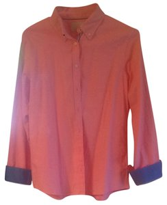 Banana Republic Top Pink With Blue Accent