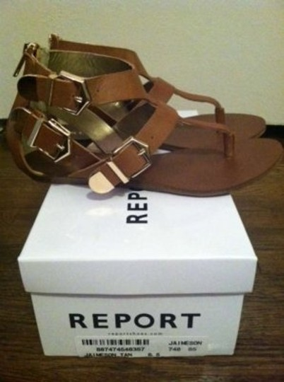 Report Signature Tan Sandals