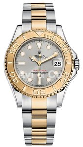 Rolex Rolex Yacht-Master 35 Steel & Yellow Gold Watch Silver Dial 168623