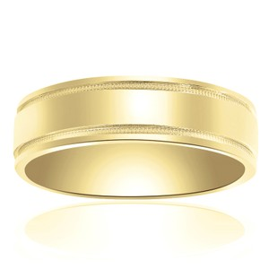 6.0mm 14k Yellow Gold Wedding Band