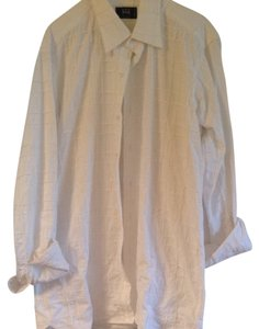 Ike Behar Button Down Shirt White