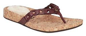 UGG Australia Flip Flop Sheepskin Brown/Tan Sandals