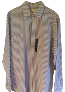 Banana Republic Button Down Shirt Blue And Green