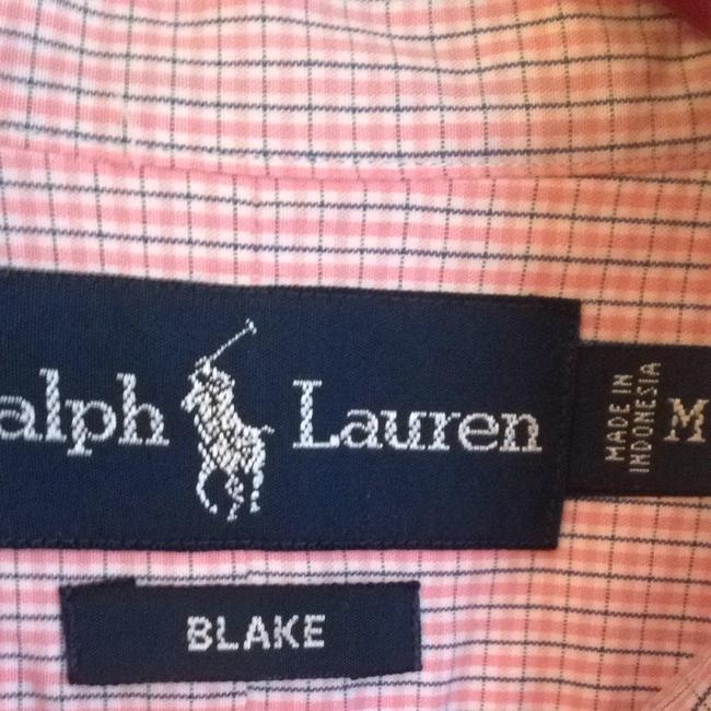 Ralph Lauren Button Down Shirt Pink With Blue