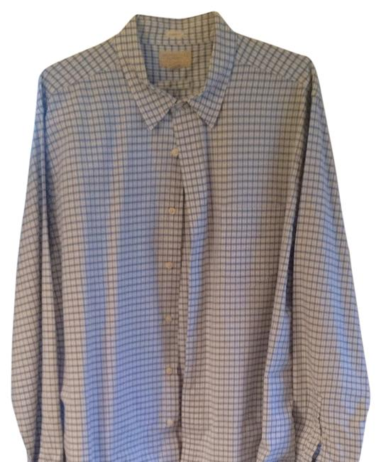American Eagle Outfitters Button Down Shirt Blue