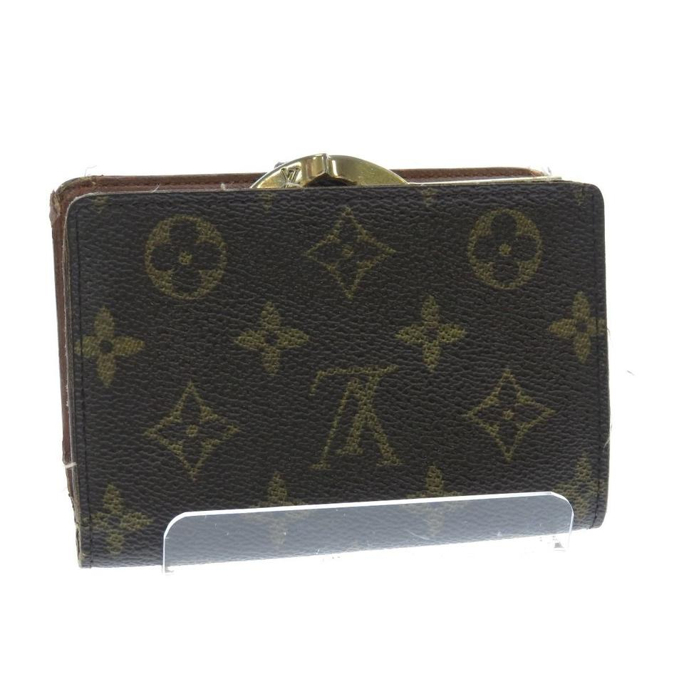 Louis vuitton brown monogram porte feuille vie french for Porte in french