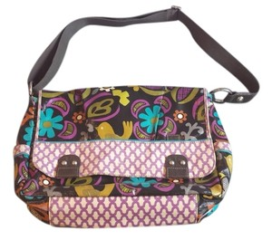 Fossil Key-per Crossbody Cotton Coated Canvas Magnetic Closure Multi Messenger Bag