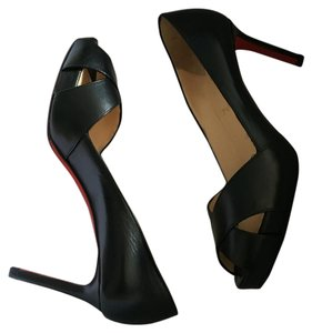 Christian Louboutin Leather Comfort Black Pumps