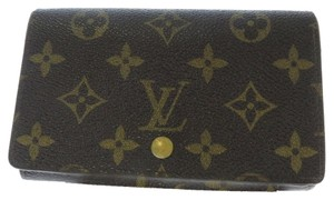 Louis Vuitton 100% Authentic Louis Vuitton Brown Monogram Tresor Wallet with Zippered Coin Purse