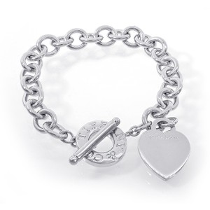 Tiffany & Co. Silver Genuine Return To Heart Tag Toggle Sterling S Bracelet