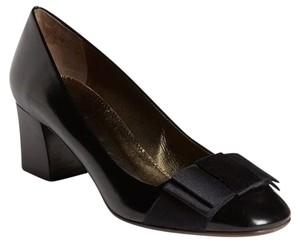Lanvin Cube Heel Black Pumps