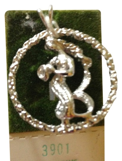 """Vintage Sterling Silver Aquarius Charm/Pendant for necklace (1"""" circumference) NWOT"""