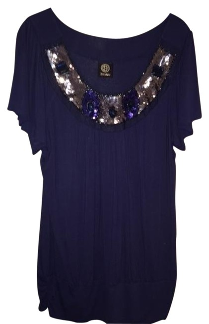 Preload https://item5.tradesy.com/images/bobeau-blue-pullover-sleeve-with-sequins-neckline-tee-shirt-size-16-xl-plus-0x-1472614-0-0.jpg?width=400&height=650