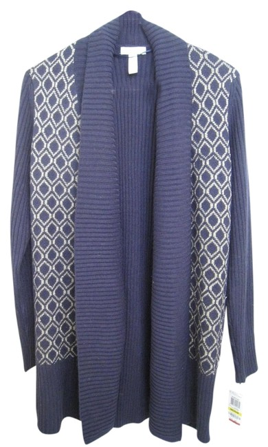 Item - Navy Gold New with Tags Extra Yarn. 8m 10m Cardigan Size 10 (M)
