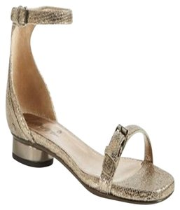 Lanvin Ankle Strap Flat New Gold Sandals
