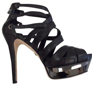 Velvet Angels High Heel Sandals Black Platforms