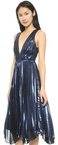 Alice + Olivia Gown Metallic Flowy Dress