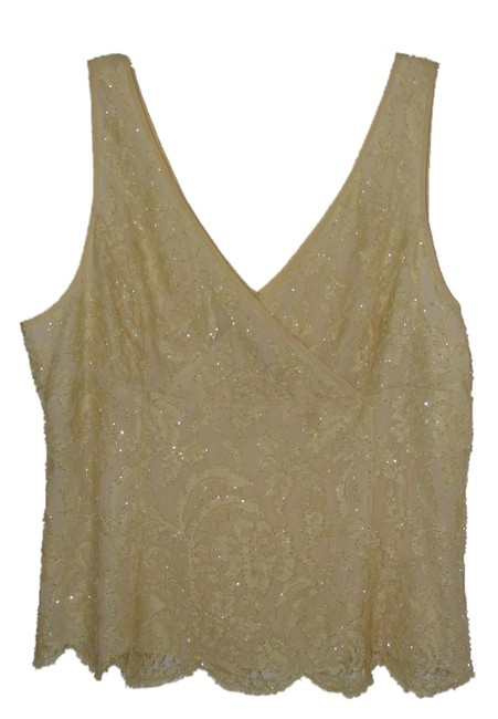 Teri Jon Top Yellow Beaded