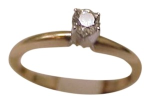 Estate Vintage 14k Yellow Gold Engagment Old Mind Cut .25ct Diamond Ring,1930's