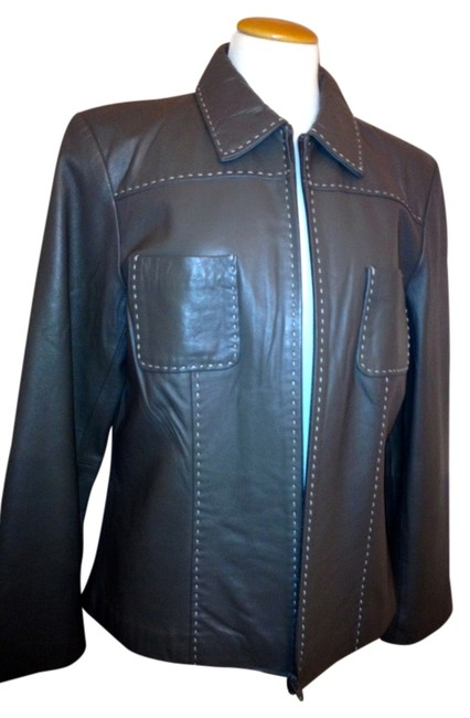 Other Classic Olive Leather Jacket