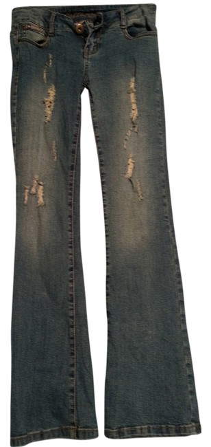Item - Distressed Boot Cut Jeans Size 32 (8, M)