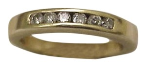 Other Estate Vintage 14K Yellow Gold 6 Diamonds Wedding Ring Band, 1950's