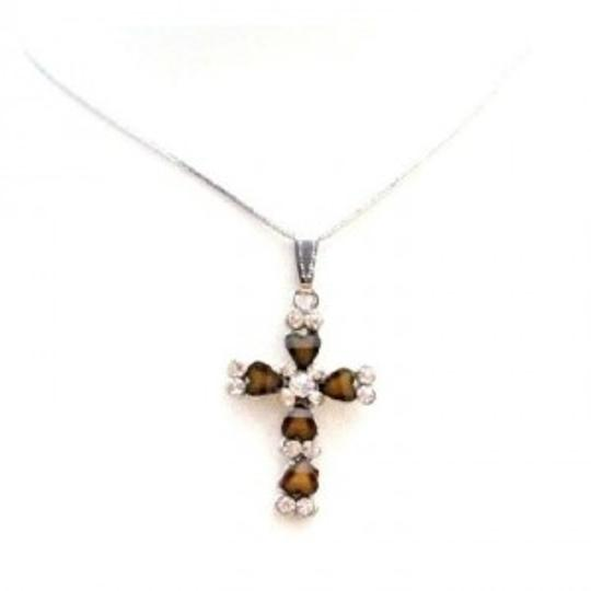 Brown Our Cross Exquisitely Crafted Christmas Gift Jewelry Set