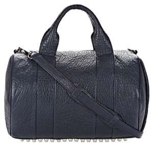 Alexander Wang Leather Studded Duffel Distressed Cross Body Bag