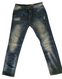Please Vintage Glam Boyfriend Cut Jeans-Distressed