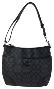 Coach Tote in Black & Grey Signature