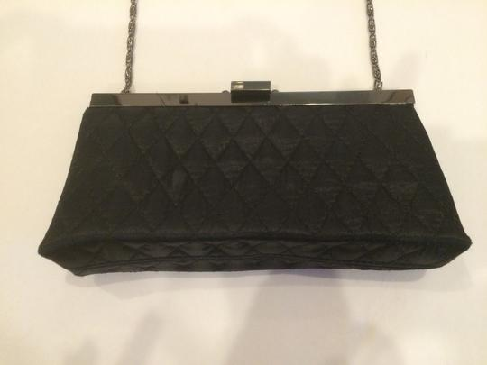 Jessica McClintock Evening Quilted Black Clutch