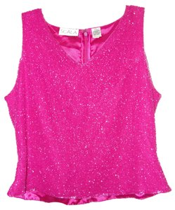 Scala Top Pink Beaded