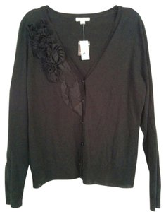 New York & Company V-neck Rosette Ruffle Cardigan