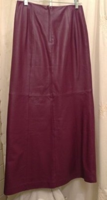 Newport News Leather New Skirt Cranberry