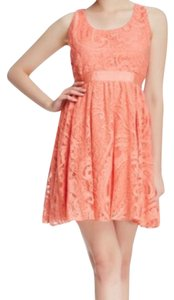 Alice + Olivia short dress Salmon on Tradesy