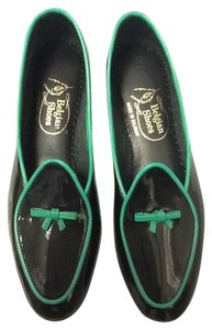 Belgian Shoes Midinette Patent Leather New Black Green Flats
