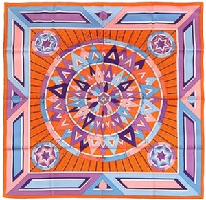 Hermès AUTHENTIC HERMES Rose Des Vents Silk Twill Scarf - Brand new!