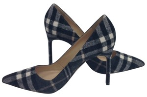 Manolo Blahnik Black and white plaid Pumps